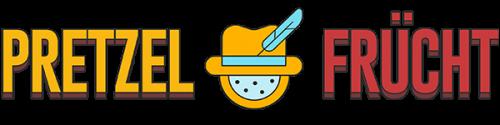 Pretzel Frücht logo. A passion fruit slice wearing an alpine hat