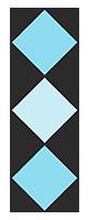 vertical blue diamond border